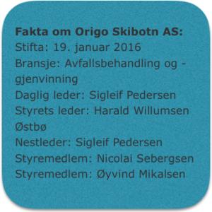 fakta om Origo Skibotn