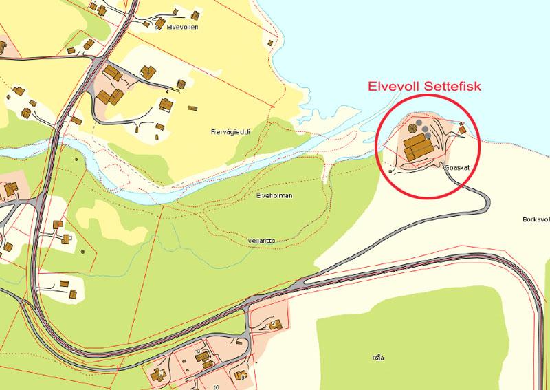 Elvevoll Settefisk vil sette opp skilt ved FV868.